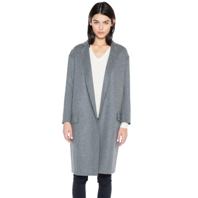 JENNIE LIU Women's Cashmere Wool Double-faced Lapel Coat