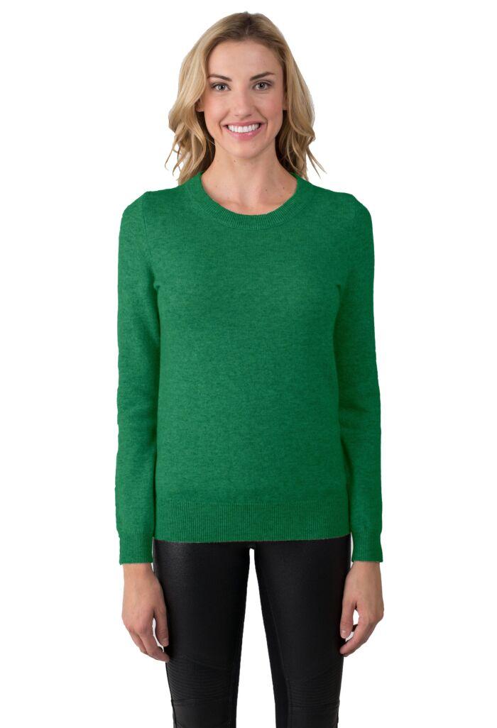Forest Cashmere Crewneck Sweater