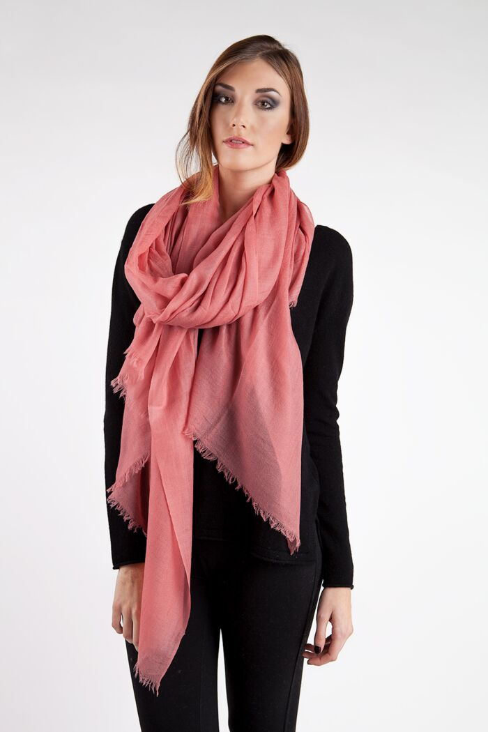 Coral Reef Tissue Weight Air Cashmere Shawl Wrap