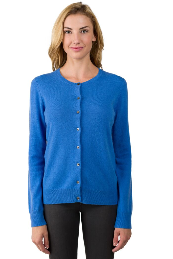 Flag Blue Cashmere Button Front Cardigan Sweater front view