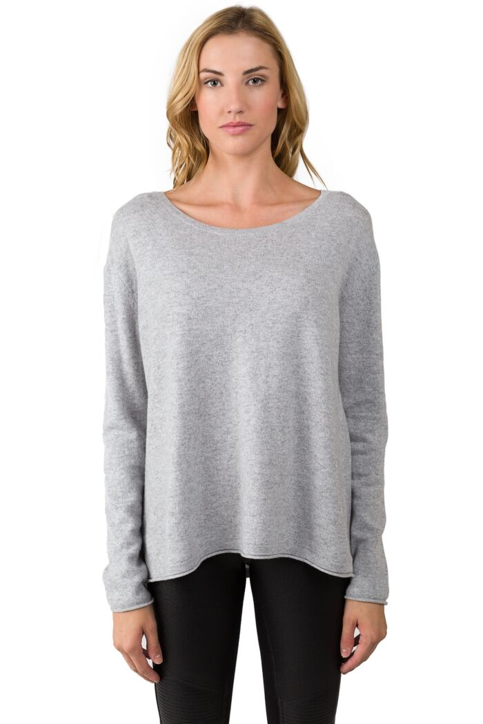Grey Cashmere High Low Sweater
