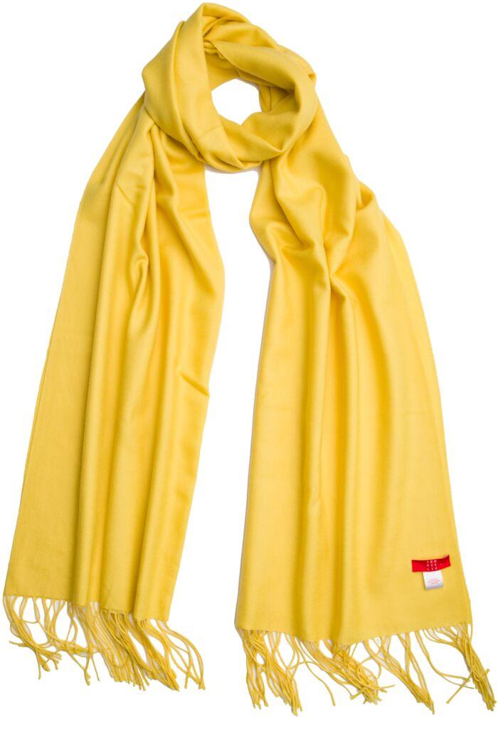 Lemon Tissue Weight Wool Cashmere Wrap