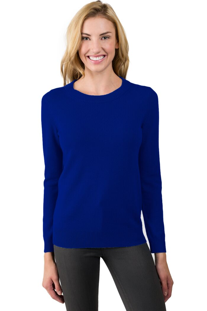 Midnight Cashmere Crewneck Sweater front view