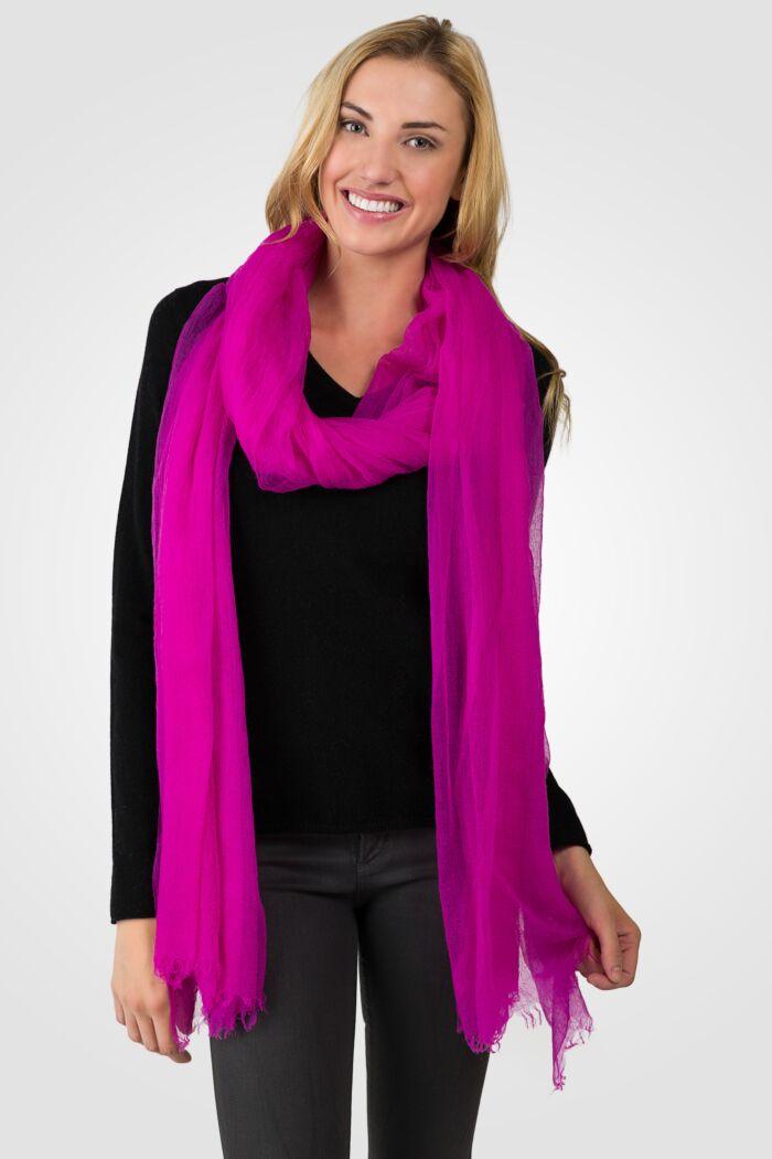 Purple Tissue Weight Air Cashmere Shawl Wrap