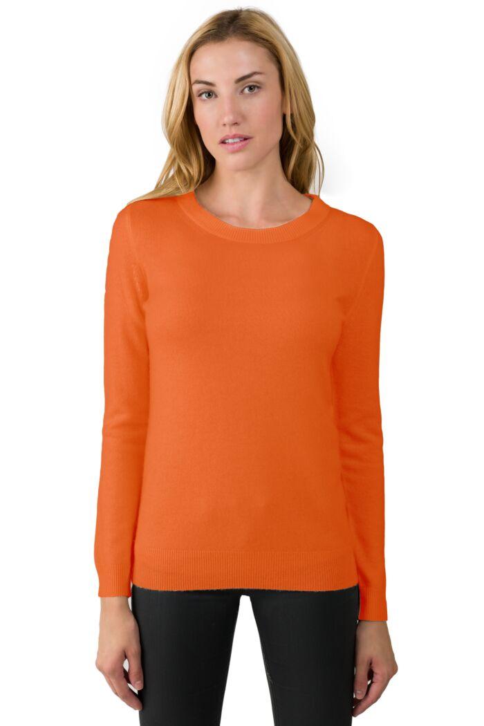 Tangerine Cashmere Crewneck Sweater