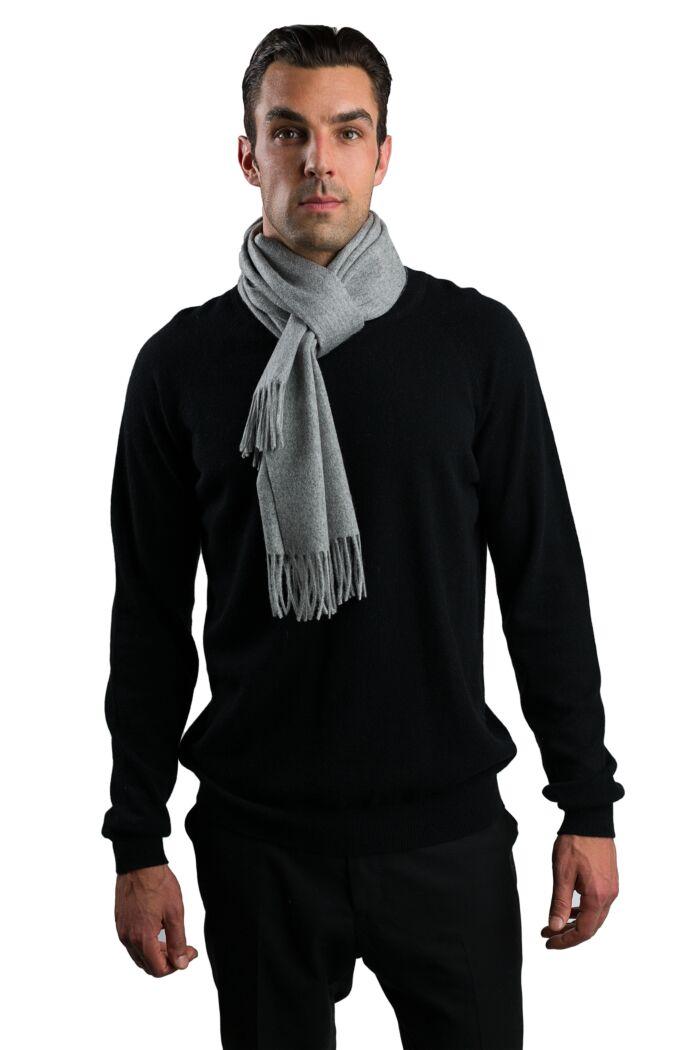 Grey Men's Watermark Cashmere Blend Woven Scarf