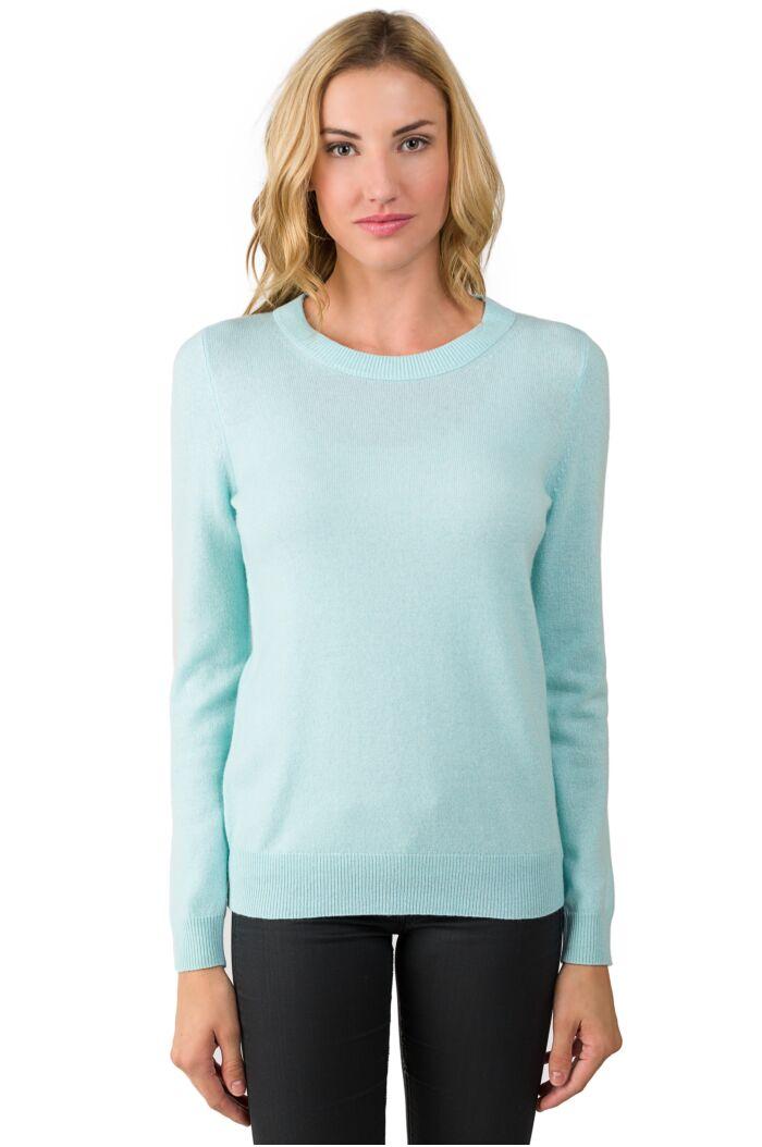Aqua Cashmere Crewneck Sweater