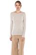 JENNIE LIU Women's 100% Pure Cashmere Long Sleeve Ribbed Boatneck Sweater